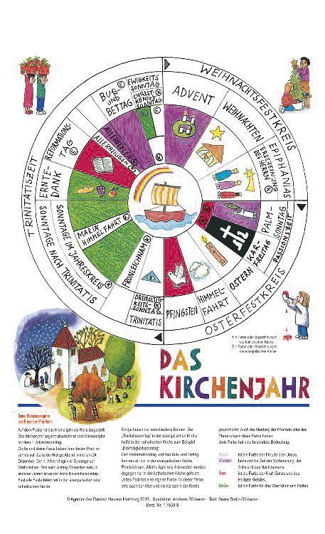 Arbeitsblatt Liturgische Farben : Poster das kirchenjahr bestellen von agentur des rauhen hauses