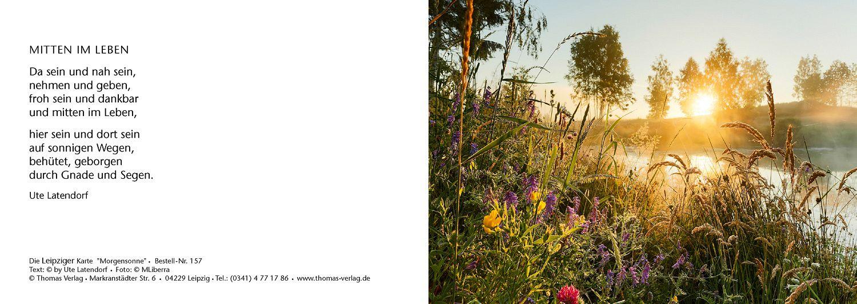 Leipziger Karte Morgensonne Leipziger Karte Gluck Frieden