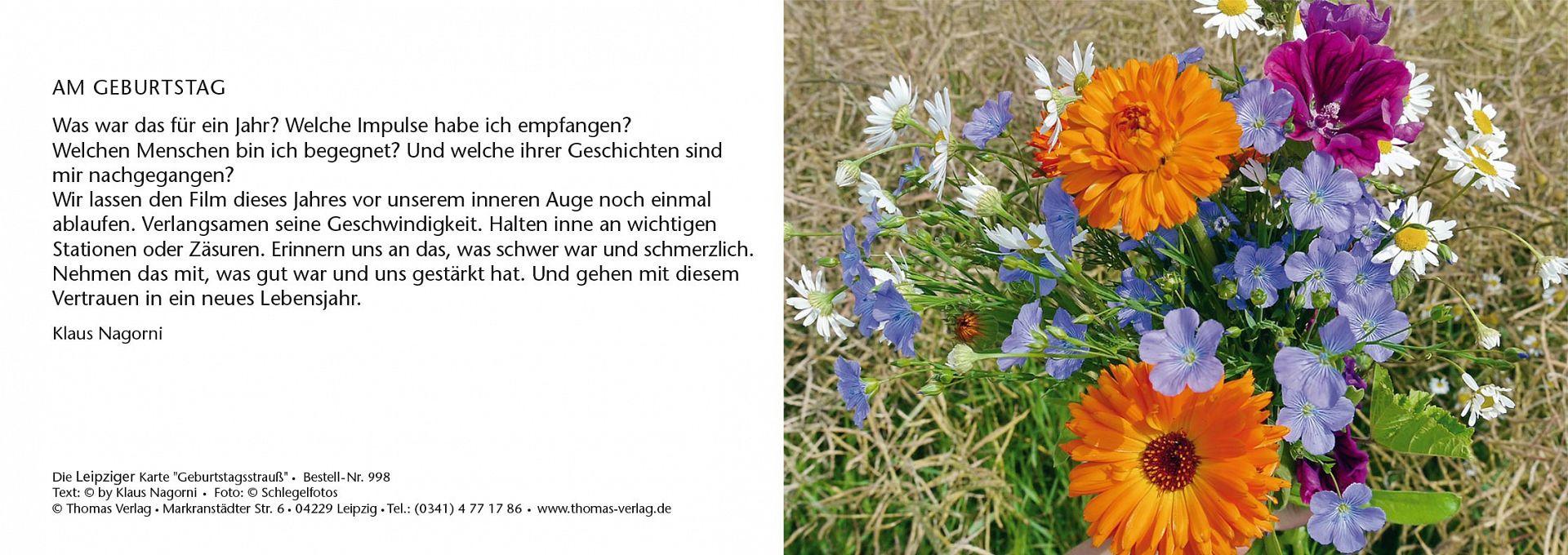 Leipziger Karte Geburtstagsstrauss Leipziger Karte Geburtstag
